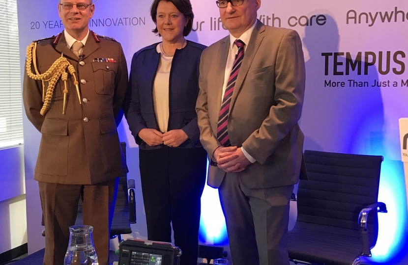 MARIA WITH GENERAL BRICKNELL AND GRAHAM MURPHY
