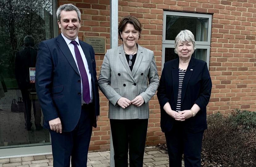 Hindson House Maria Miller MP, Grahen Allen, Cllr Liz Fairhurst