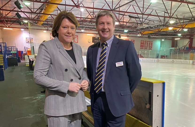 MARIA MILLER MP VISITS PLANET ICE BASINGSTOKE