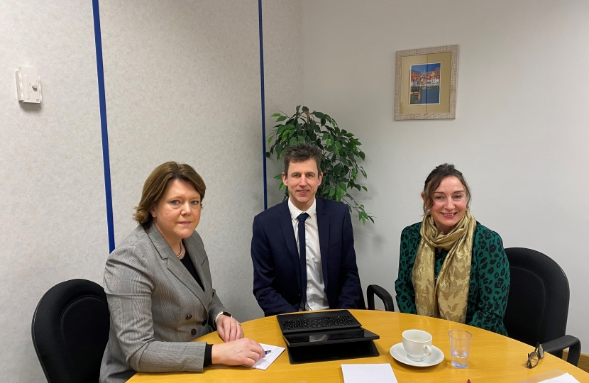 MARIA MILLER MP MEETS WITH THE HAMPSHIRE VIOLENCE REDUCTION UNIT (VRU)