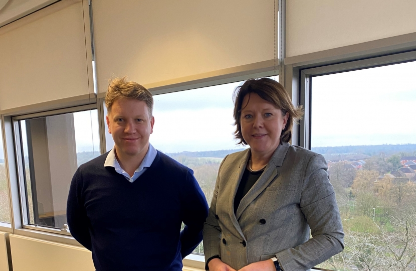 Maria Miller MP Visits ACG Architects For Update On The New Pavilion at Mays Bounty Cricket Ground