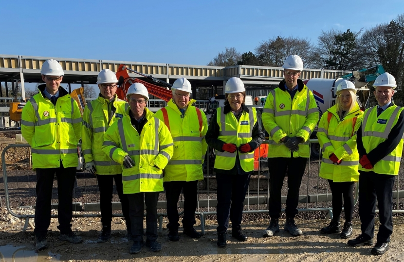 MARIA MILLER MP VISITS SITE OF BASINGSTOKE'S NEW SCHOOL THE AUSTEN ACADEMY